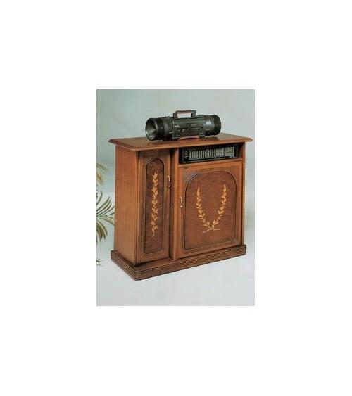 Porta-stereo classico radica intarsio due porte
