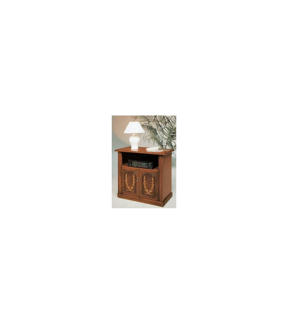 Porta-TV classico radica/intarsio due porte