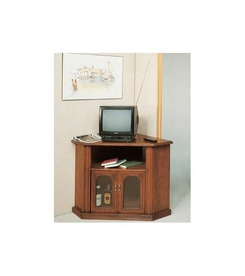 Porta-TV classico angolo vetro due porte