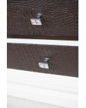 Base porta-TV classica spalla larga - porte c/pann. Pelle