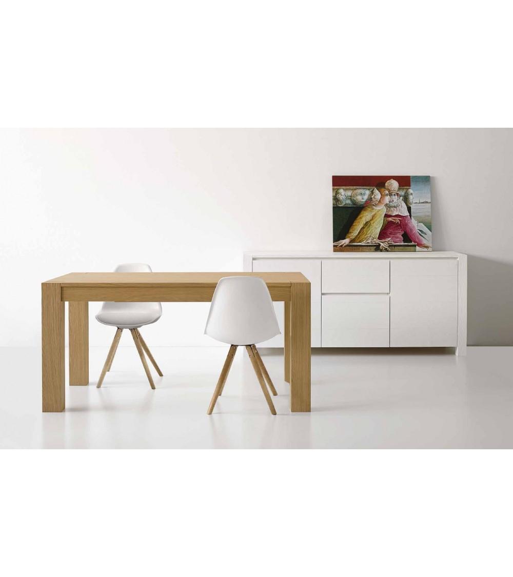 Scrittoio in legno laccato bianco