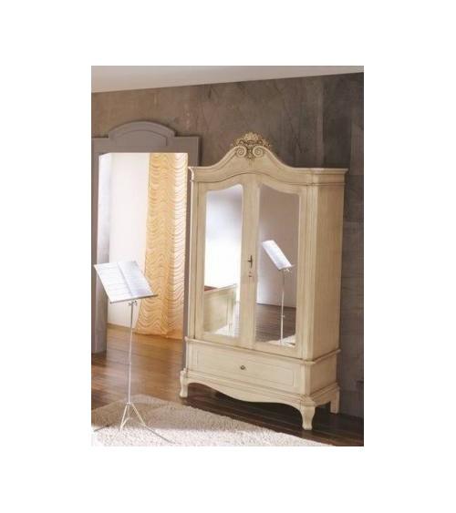 Armadio classico due porte con ripiano e paletto porta abiti