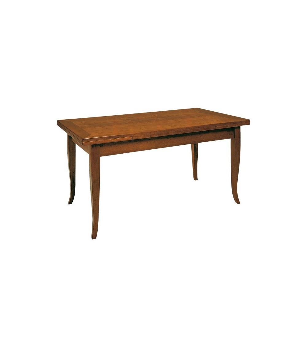 Tavolo rettangolare allungabile classico 160x85