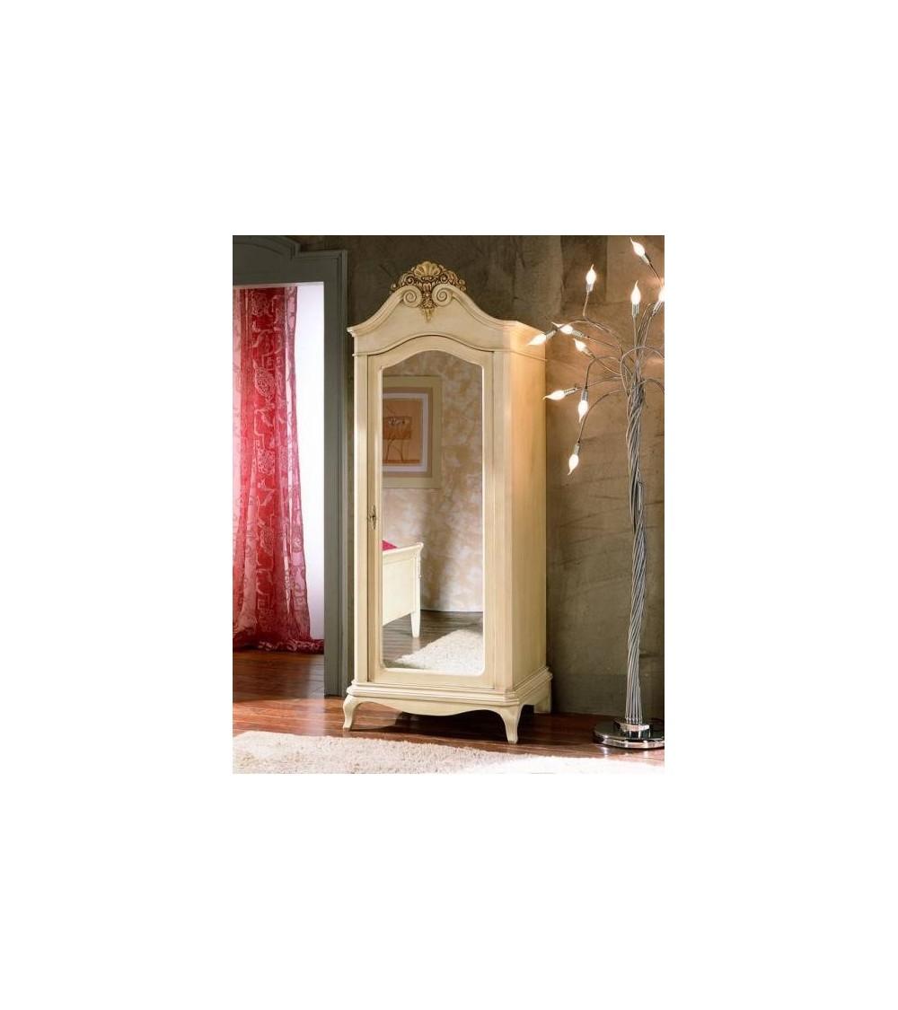 Armadio classico una porta con ripiano e paletto porta abiti