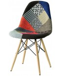 Sedia replica Eames DSW patchwork