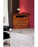 Porta-TV classico angolo intarsiato 2 porte finitura Bassano