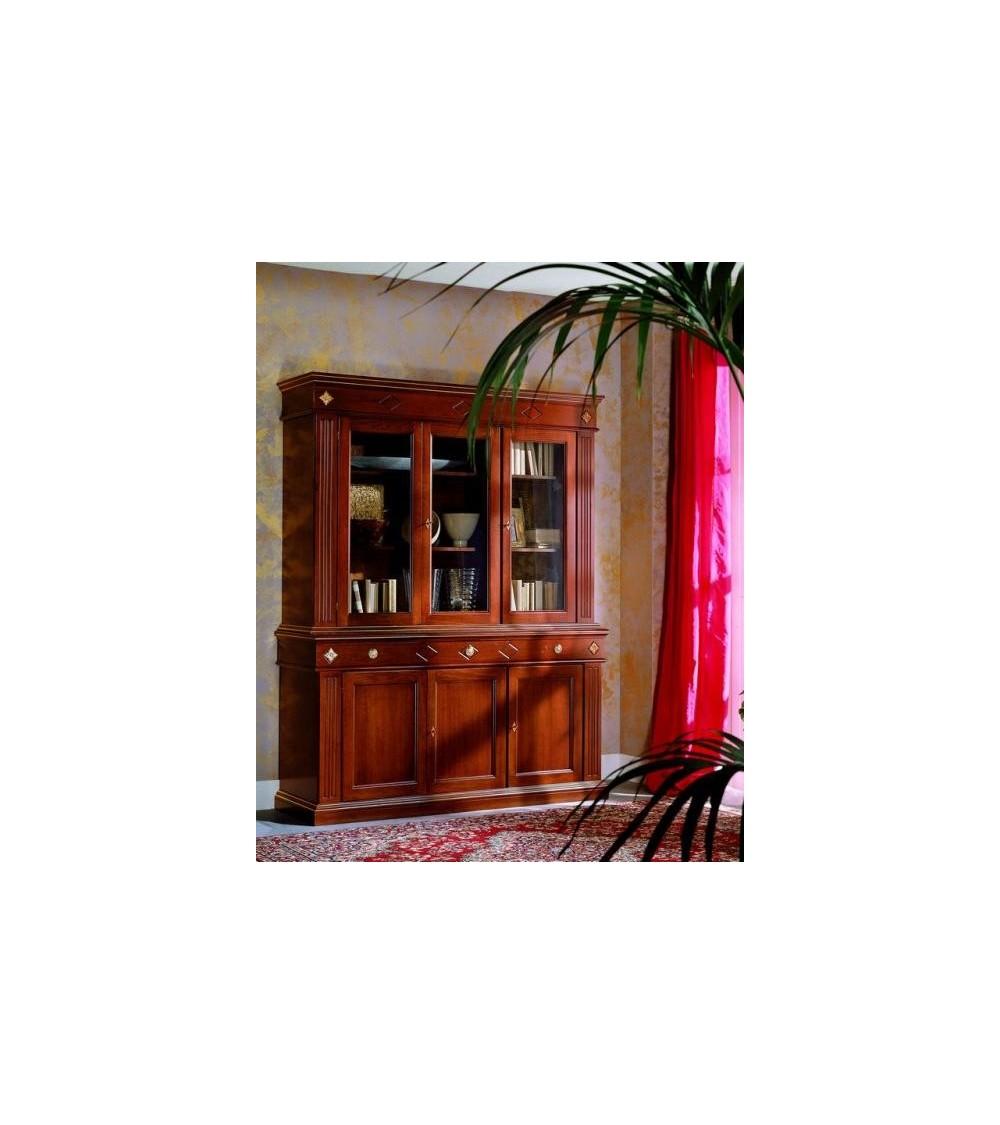 Cristalliera classica tre porte tre cassetti