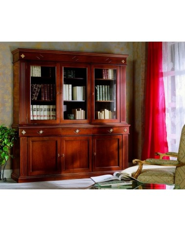 Base bassa classica tre porte larghe tre cassetti (senza alzata) - VDE808 - 1 - Credenze