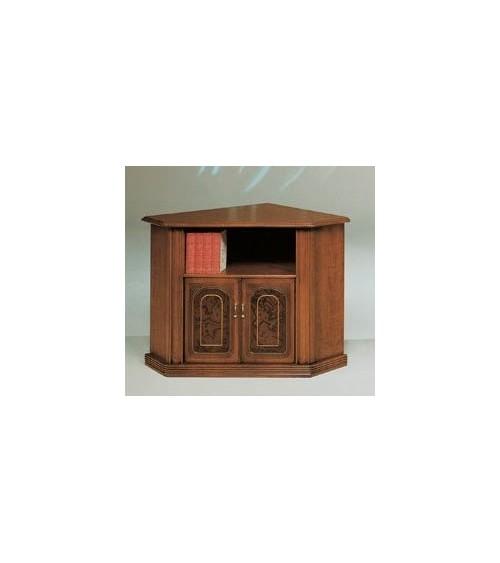 Porta-TV classico angolo radica/filetto due porte - M704 - 1 - Porta TV