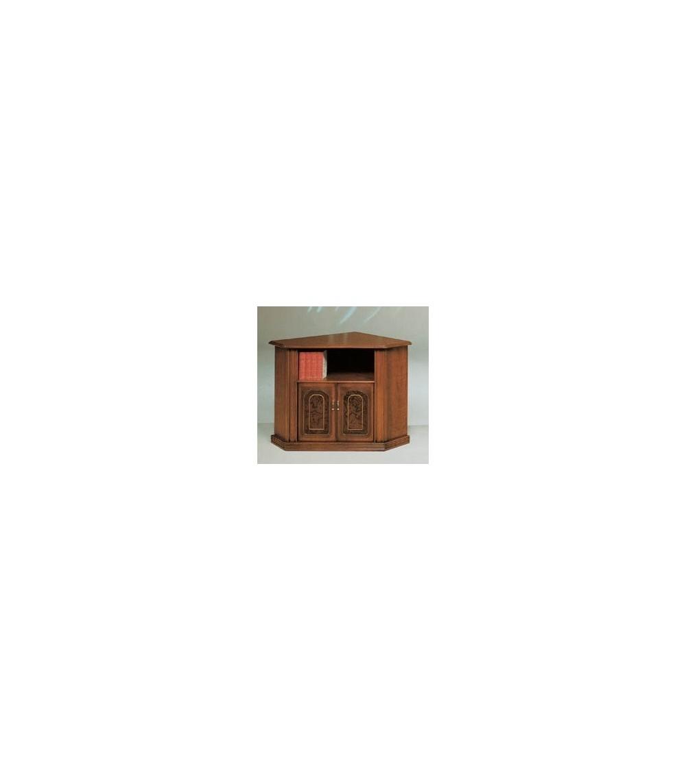 Porta-TV classico angolo radica/filetto due porte
