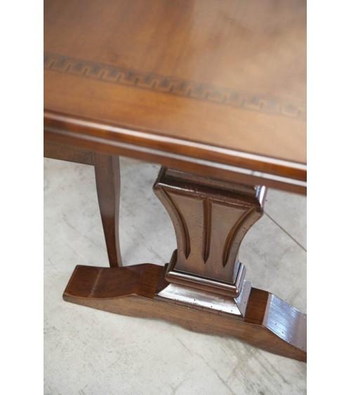 Tavolo classico con greca intarsiata e quattro allunghe - BA17 - 3 - Tavoli