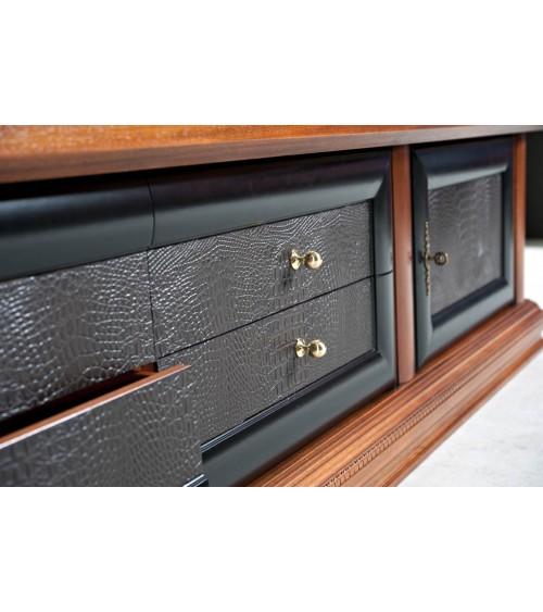Base porta-TV classica spalla larga - porte c/pann. Pelle - AS15 - 2 - Porta TV