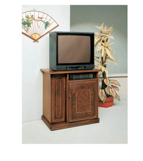 Porta-stereo classico radica/filetto due porte - M104 - 1 - Porta TV