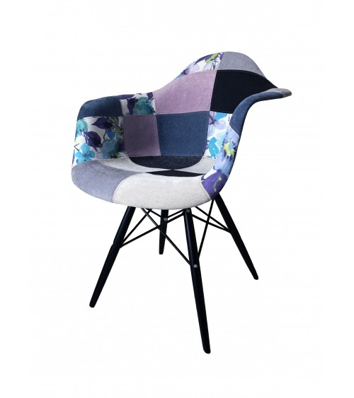 Poltroncina replica Eames DSW patchwork - T646 - 2 - Moderne