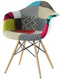 Poltroncina replica Eames DSW patchwork