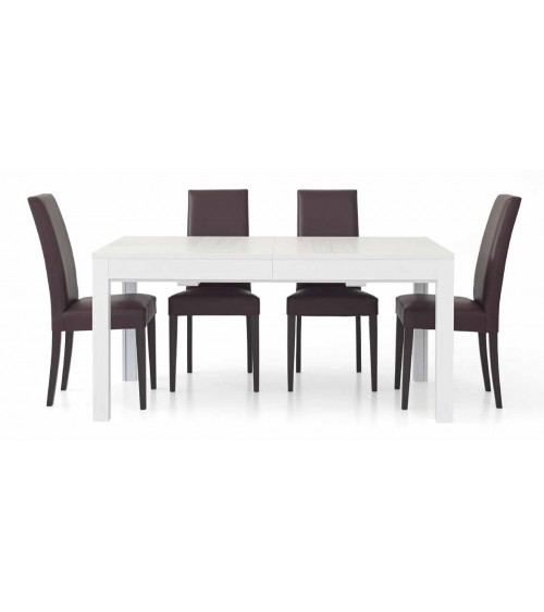 Tavolo bianco frassinato 180x90 + 4 allunghe 43 - T551 - 1 - Tavoli
