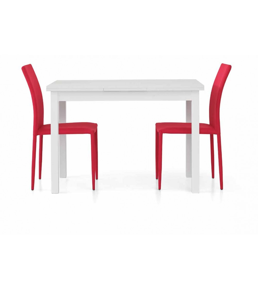 Tavolo bianco frassinato 110x70 + 2 allunghe 40 - T558 - 1 - Tavoli