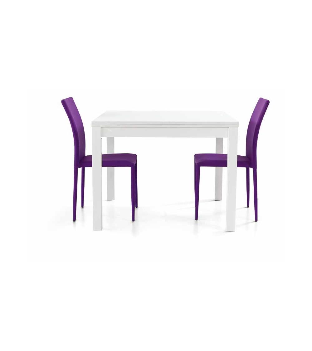 Tavolo bianco frassinato 100x100 a libro - T557 - 1 - Tavoli