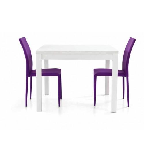 Tavolo bianco frassinato 90x90 a libro - T559 - 1 - Tavoli