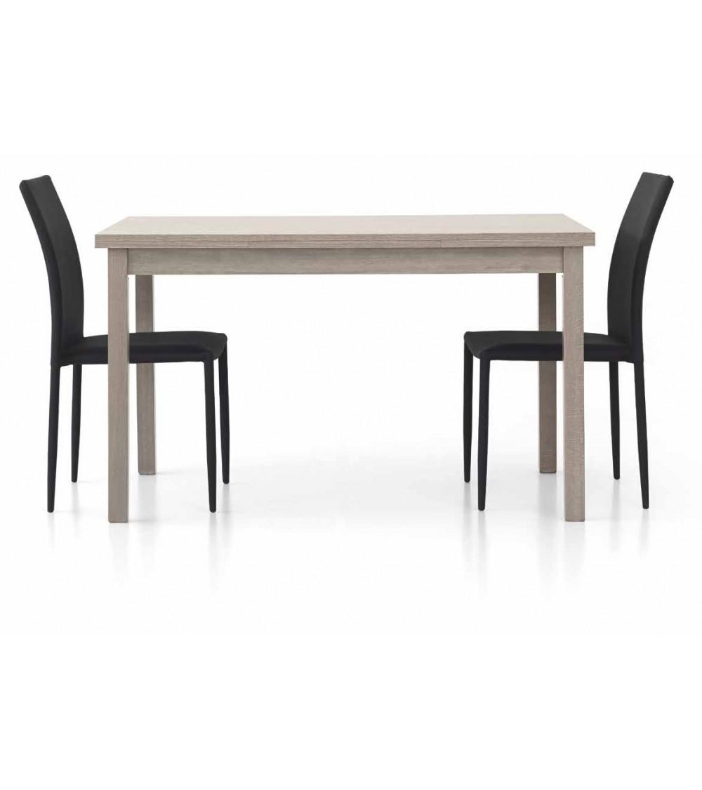 Tavolo rovere grigio 130x80 + 2 allunghe 40 - T564 - 1 - Tavoli