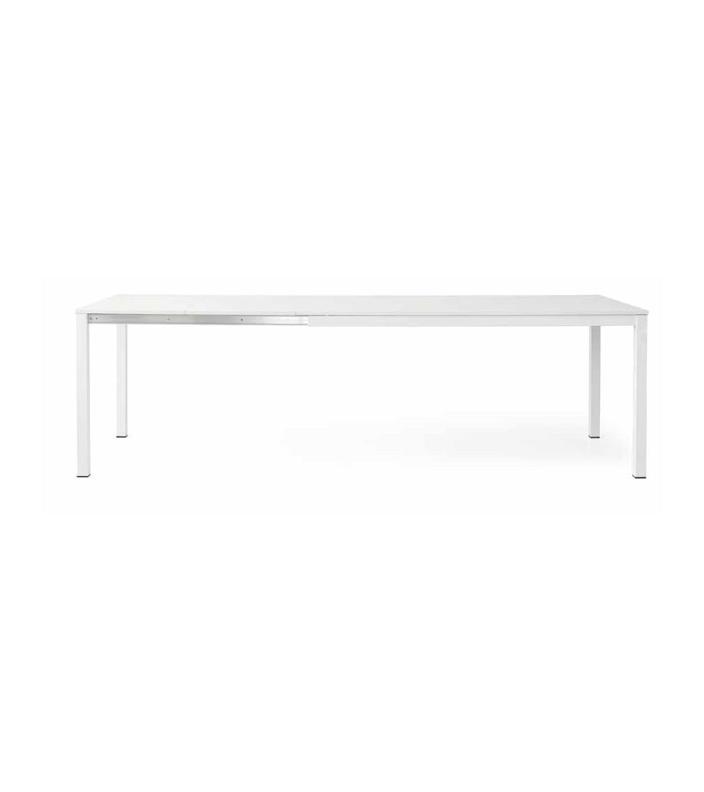 Tavolo bianco frassinato 160x90 + 2 allunghe 50 con struttura metallo - T605 - 1 - Tavoli