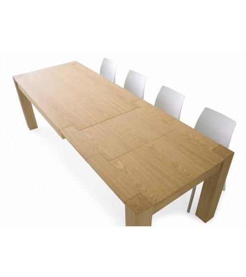 Tavolo rovere naturale spazzolato 160x90 2 allunghe 50 - T633 - 3 - Tavoli