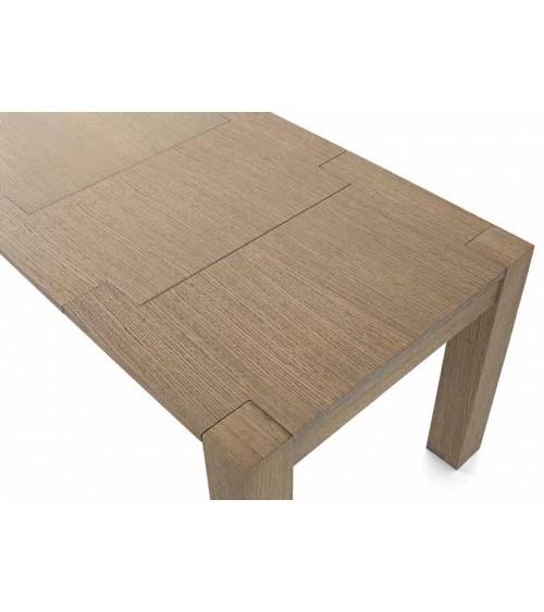 Tavolo rovere seppia spazzolato 180x90 2 allunghe 50 - T640 - 3 - Tavoli