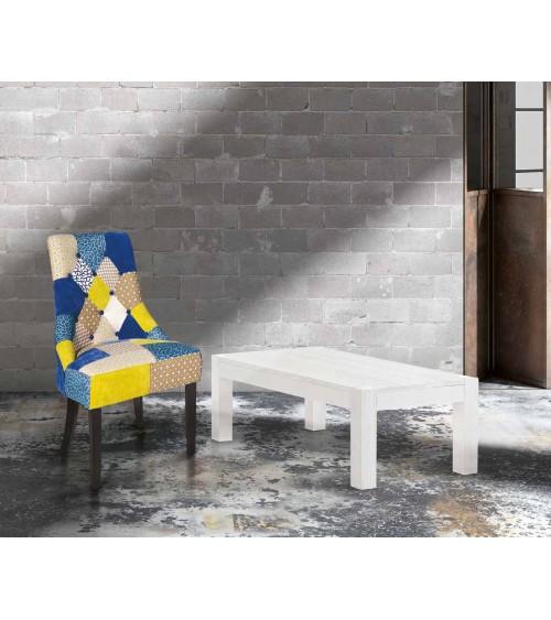 Tavolino abete bianco spazzolato 120x60 - T651 - 1 - Tavoli