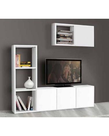 Porta TV bianco frassinato L. 175 P. 30 H. 132 - T569 - 3 - Porta TV