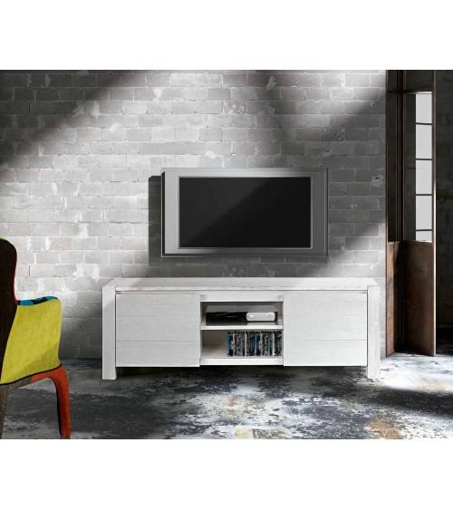 Porta TV abete bianco spazzolato - T649 - 1 - Porta TV