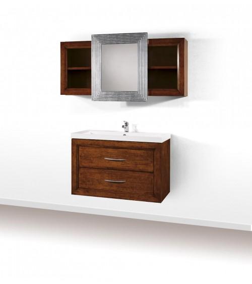 Specchiera argento 90x120