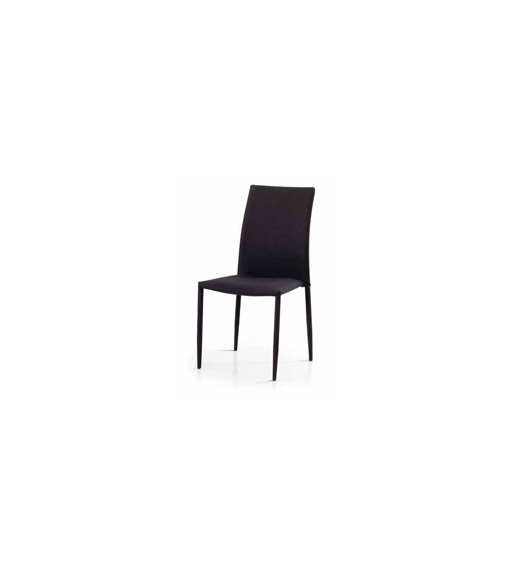 Sedia tessuto nero - T624 - 1 - Moderne
