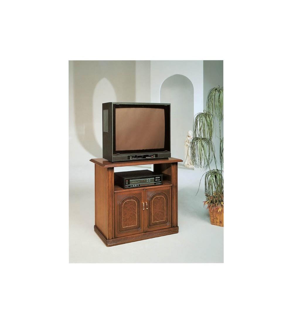 Porta-TV classico bifacciale radica/intarsio due porte