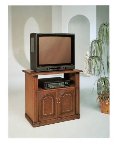 Porta TV classico bifacciale radica intarsio due porte - M603 - 1 - Porta TV