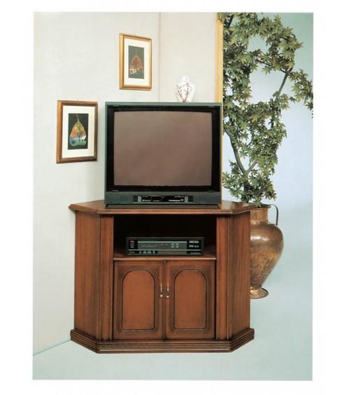 Porta-TV classico angolo noce due porte - M701 - 1 - Porta TV