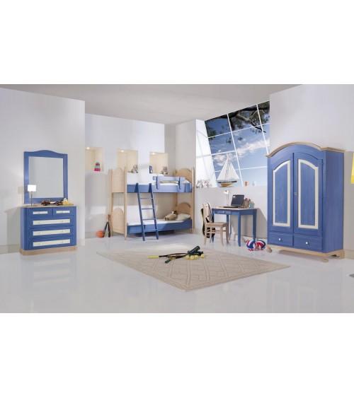 Cameretta blu con letto a castello - Z4002/E - 1 - Ambienti