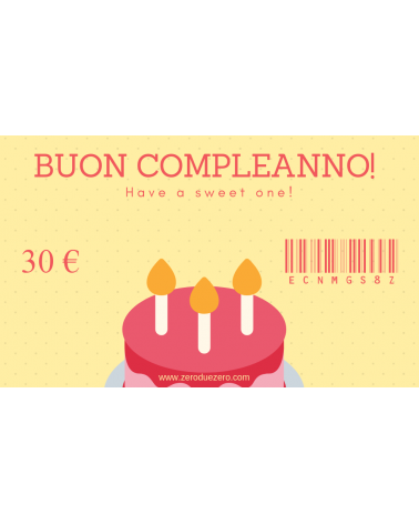 Buon compleanno!-30 - GC-30 - 1 - Gift Card