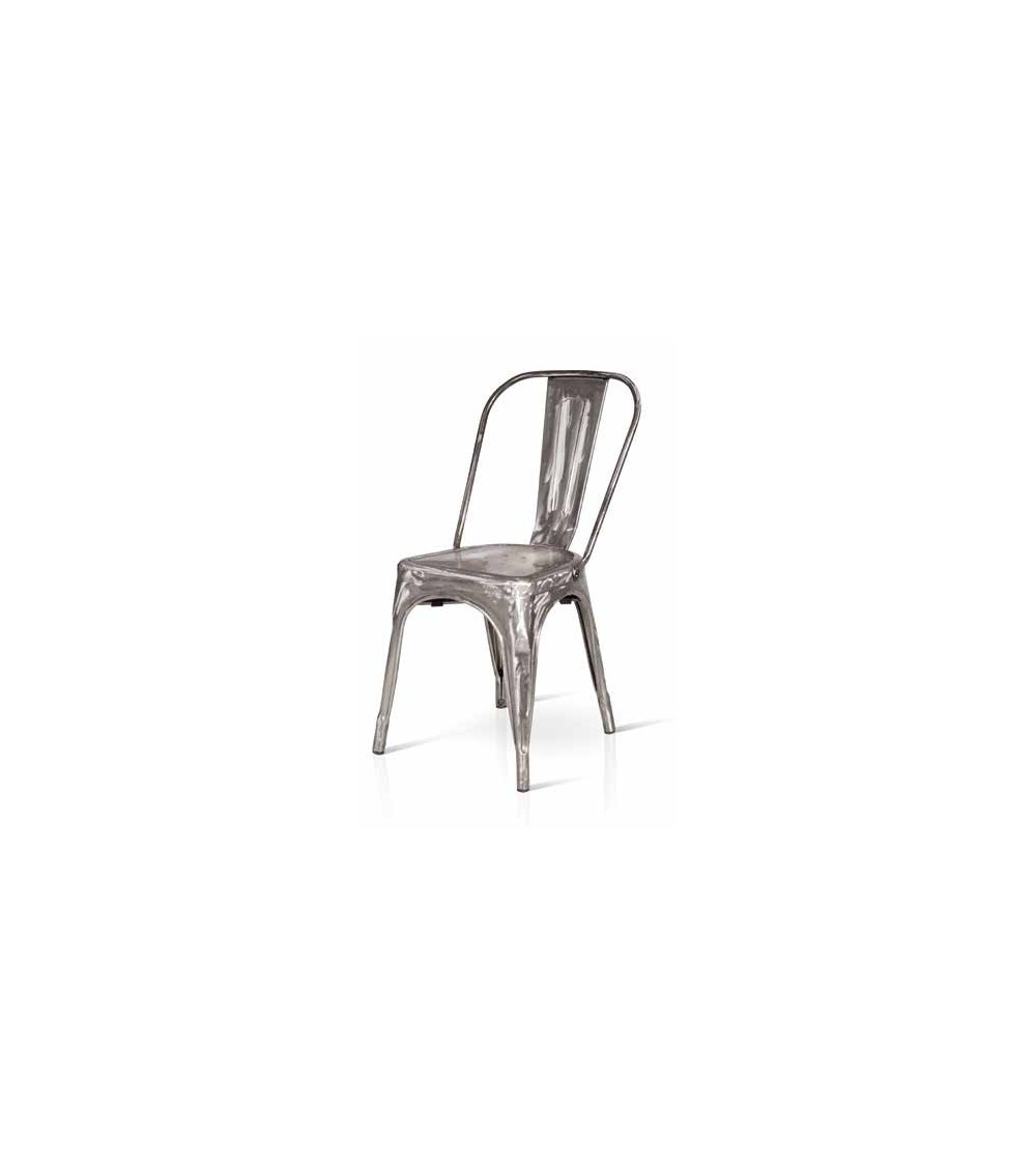 Set 4 Sedie Industrial in metallo grigio - T783 - 1 - Home page
