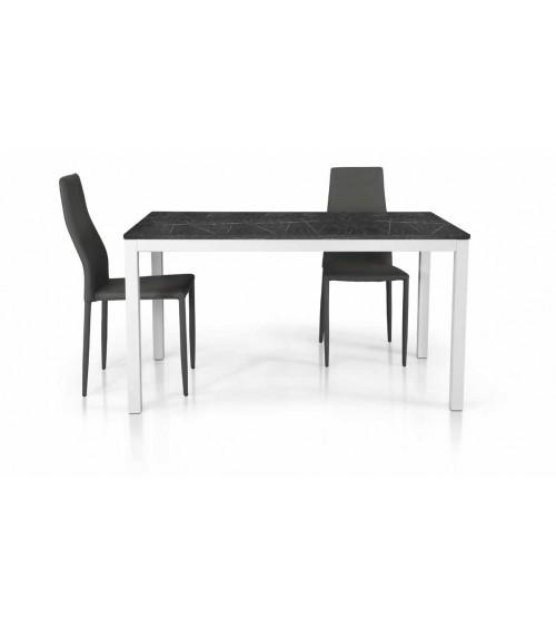 Tavolo nobilitato finitura marmo ヨ 140x80 1 all. cm.60 - T1608 - 1 - Tavoli