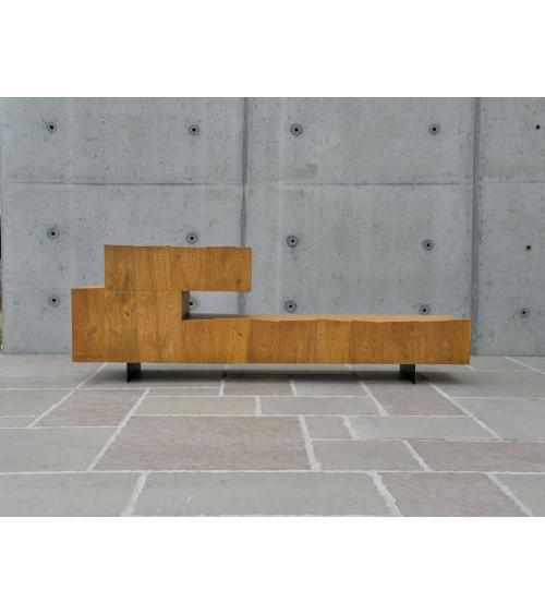 Porta tv rovere nodato finitura grano - T1634 - 1 - Porta TV