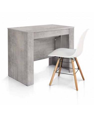 Consolle nobilitato finitura beton - 90x50 4 all. cm.45 - T1651 - 1 - Consolle