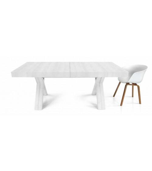 Tavolo nobilitato finitura bianco consumato ヨ 180x100 6 all. cm.50 - T1660 - 1 - Tavoli