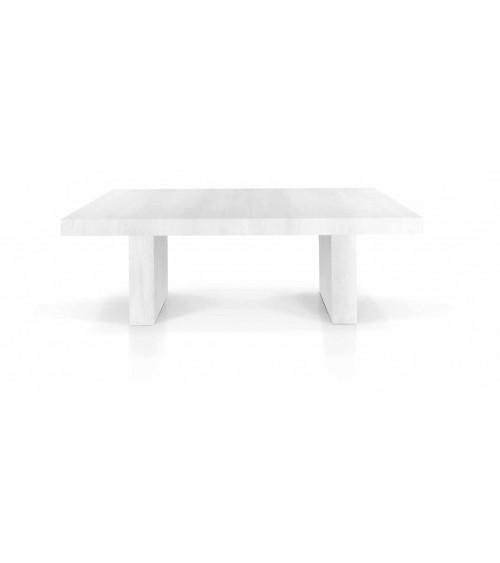 Tavolo nobilitato finitura bianco consumato ヨ 160x90 5 all. cm.50 - T1676 - 1 - Tavoli