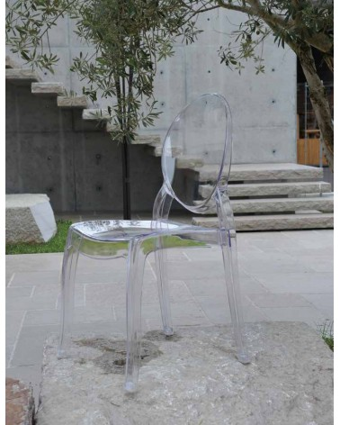 Sedia Ovale trasparente - T695 - 2 - Moderne