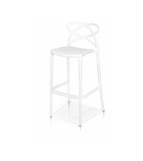 Sgabello bianco - T959 - 1 - Moderne