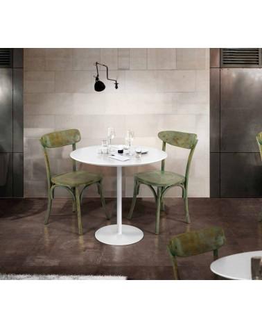 Tavolo rotondo finitura bianco opaco � 120 - T997 - 1 - Tavoli