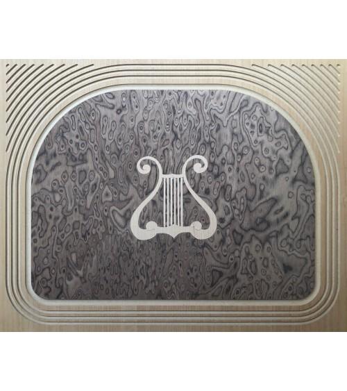 Portatelefono classico radica intarsio Arpa una porta - M405 - 2 - Porta TV