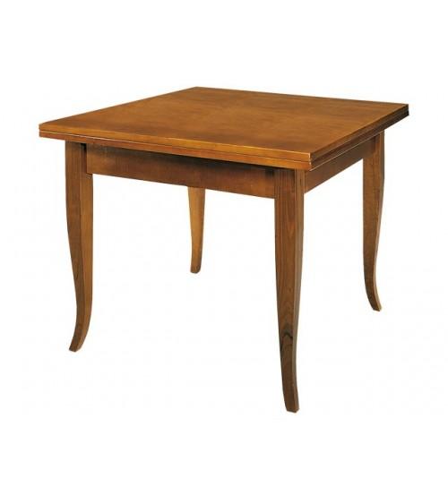 Tavolo classico quadrato a libro con gambe a sciabola - SENZA RIQUADRO - T14 - 1 - Tavoli