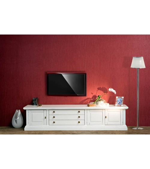 Base porta-TV classica con porte diamantate - AS16 - 1 - Porta TV
