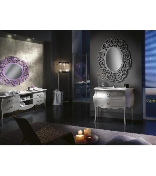 Specchiera ovale lilla - Z1373/A - 1 - Specchiere